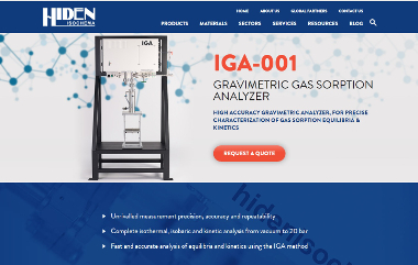 IGA-001 Gravimetric Gas Sorption Analyser