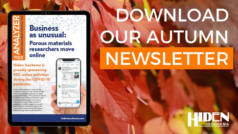Hiden Isochema Autumn newsletter 2020