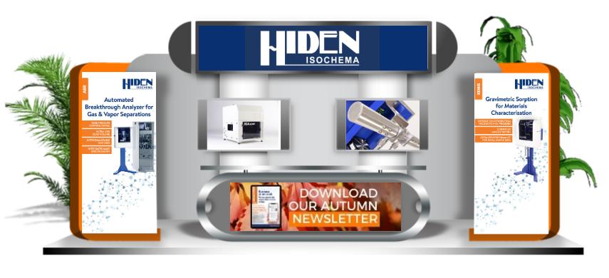 Hiden Isochema AiCHe booth
